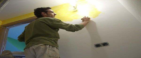 Pintura Efecto Rustico Color Amarillo
