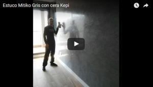 Estuco Mitiko Gris con cera Kepi