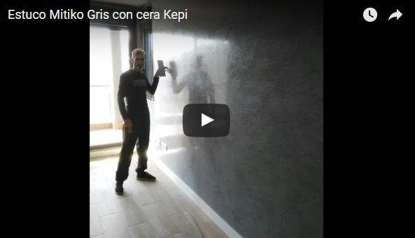 Video Estuco Mitiko Veneciano Espatuleado Veteado Gris