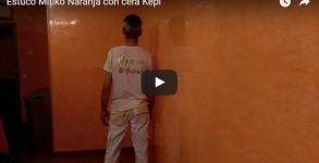 Estuco Mitiko Naranja con cera kepi