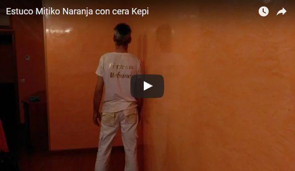 Video Estuco Mitiko Veneciano Espatuleado Veteado Naranja