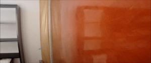 Estuco Color Naranja con Cera 5