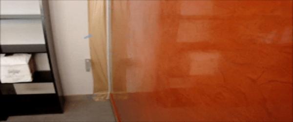 Estuco Color Naranja con Cera 6