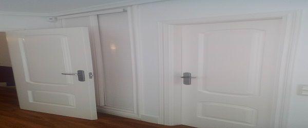 Lacado de puertas y armarios en blanco