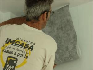 Papel pintado color gris
