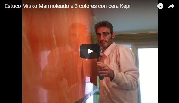 Video Estuco Mitiko Marmolizado Veteado a 3 colores Naranja