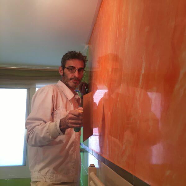 Pintores en Villalbilla – Aplicar Estuco Mitiko Marmoleado a 3 Colores con Cera