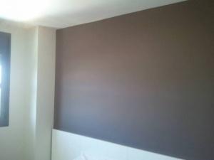 Esmalte al agua color Marron Grisacio en Dormitorio Torrejon de Ardoz (3)