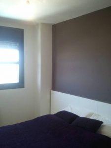 Esmalte al agua color Marron Grisacio en Dormitorio Torrejon de Ardoz (2)