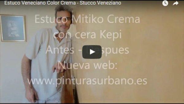 Video Estuco Mitiko Veneciano Espatuleado Veteado Crema