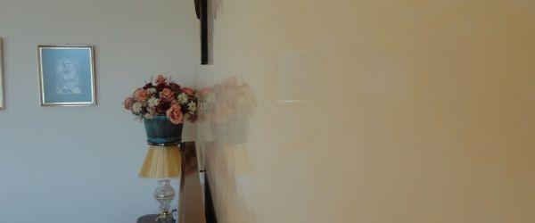 Estuco Veneciano Espatuleado con Veteado y Cera Kepi color Crema (19)