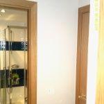 Esmalte color marron grisacio en pasillo de Vicalvaro 4