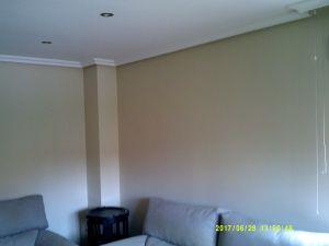 Esmalte color marron grisacio en salon de Vicalvaro 2