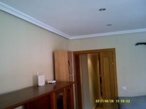 Esmalte color marron grisacio en salon de Vicalvaro 3