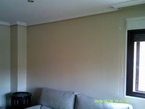 Esmalte color marron grisacio en salon de Vicalvaro 9
