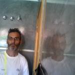 Reflejos sobre Estuco Veneciano color Gris 16
