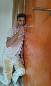 Estuco Veneciano Veteado Color Naranja (12)