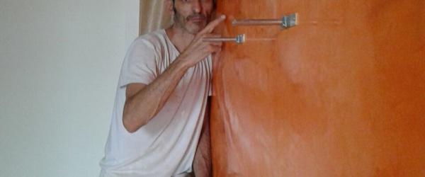 Estuco Veneciano Veteado Color Naranja (24)