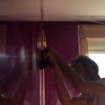 Puliendo la cera con llana estuco veneciano (9)
