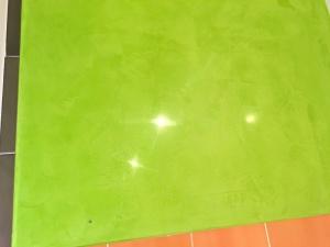 Estuco Veneciano Verde en Paredes de Wc (1)