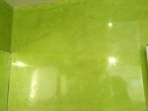 Estuco Veneciano Verde en Paredes de Wc (2)