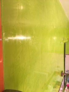 Estuco Veneciano Verde en Paredes de Wc
