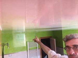 Reflejos sobre Estuco Mineral Blanco techo Wc (4)