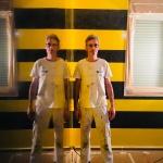 Estuco Veneciano Original a rayas amarillas y negras Borussia Dortmund (73)