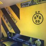 Estuco Veneciano Original a rayas amarillas y negras Borussia Dortmund Decoracion (5)