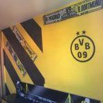 Estuco Veneciano Original a rayas amarillas y negras Borussia Dortmund Decoracion (6)