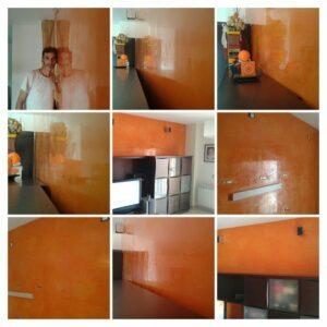 Estuco Veneciano Veteado Color Naranja (3) - COLLAGE