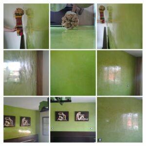 Estuco Veneciano Veteado color verde (6) - COLLAGE