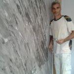 Aplicando Cera sobre estuco marmoleado (2)