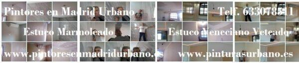Pintores en Alcala de Henares – Quitar Gotele – Aplicar Estuco Veteado Crema y Marmoleado Gris – Mª Jesus