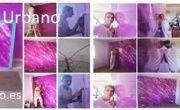 Pintores en Fuenlabrada – Plastico liso – Aplicar Estuco Marmoleado Violeta – Cristina