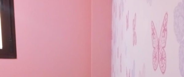 Plastico Rosa y Papel Pintado Mariposas (12)