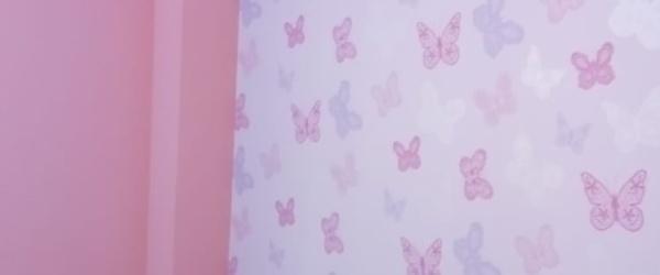 Plastico Rosa y Papel Pintado Mariposas (13)
