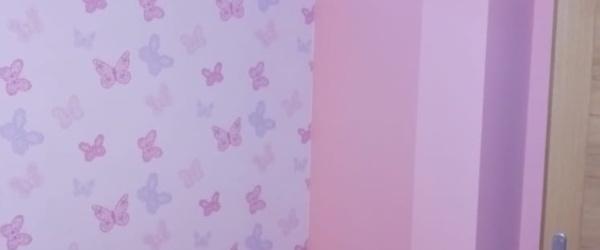 Plastico Rosa y Papel Pintado Mariposas (2)
