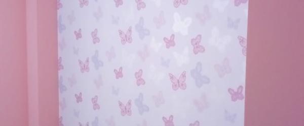Plastico Rosa y Papel Pintado Mariposas (22)