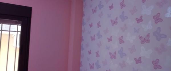 Plastico Rosa y Papel Pintado Mariposas (6)