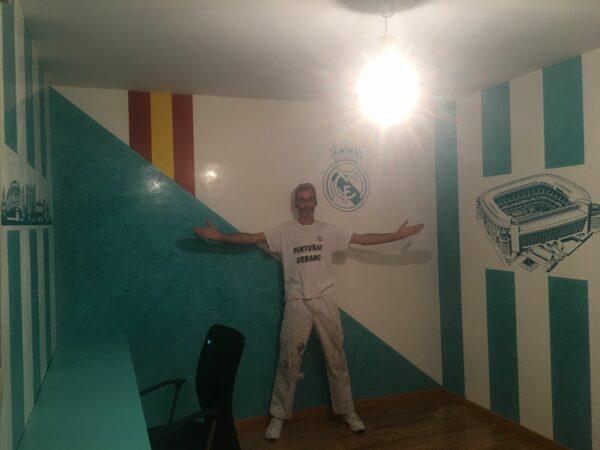 Video Estuco Veneciano Real Madrid color Blanco y Turquesa