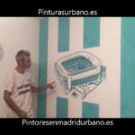 Instalando Vinilo Santiago Bernabeu 7